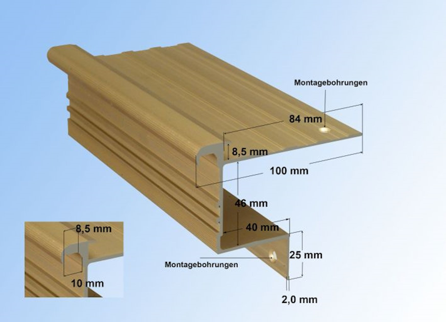 stairs steps with laminate - stabil stair profile