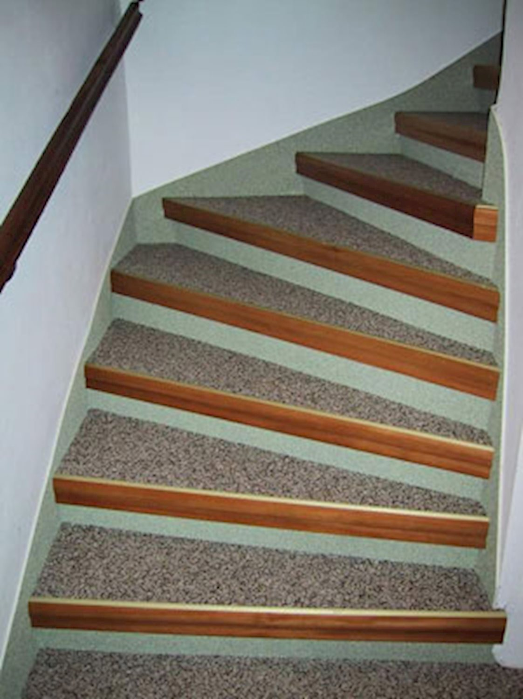 treppenstufen mit laminat oder vinyl belegen - treppenprofil standard