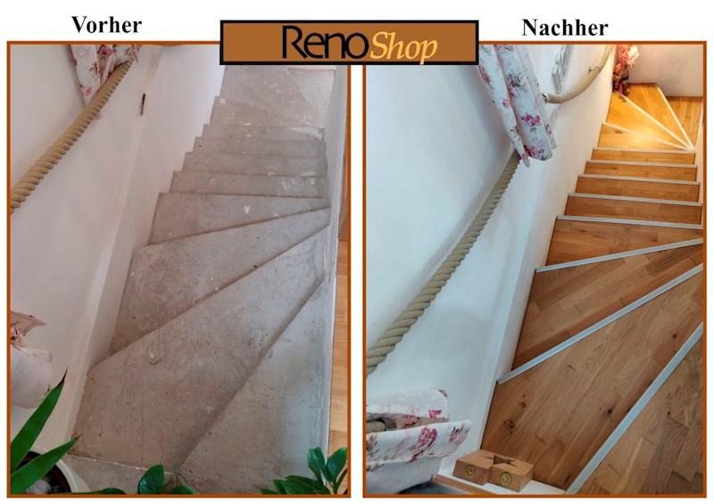 Laminat und Parkett Treppensysteme von RenoPROFIL ...